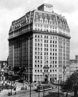 Pontchartrain Hotel; Detroit; Old; Showing; Hammond Building.