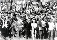 Negroes; March On Montgomery, Alabama. Martin Luther King in center foreground.
