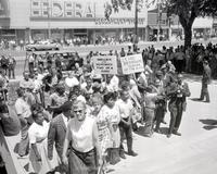 Negroes; Michigan; Dearborn. Freedom parade.