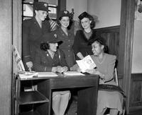 Wars; World; # 2; United States Army; Women; Detroit; WAAC. Helda Livingstone, Kathleen O'Brien, and Sgt. Christian A. Walter