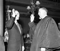 Murphy, Frank; Governor of Michigan; Inauguration. with Lawerence P. Fisher