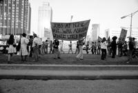 Ford, Gerald R. ; United States President. -Pickets Outside Cobo Hall