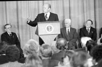 Ford, Gerald R. ; United States President; Campaigning for Michigan Primary. -Addressing Economic Club