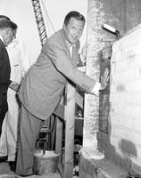 Ford, Henry II; Cornerstone Laying; Ford Auditorium.