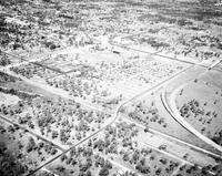Florida; Cities; Sarasota; Tin Can Tourist Camp; Baseball Park Where New York Giants Train. - Airphoto.