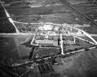 Ford Motor Co. ; Buildings; Rotunda & Administration Buildings. - Airphoto