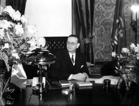Fitzgerald, Frank D. ; Governor of Michigan; Portraits. Seated at desk.