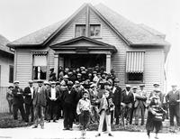 Unemployed; Detroit; Group In Front Of Welfare Department At Lemay & Canfield.
