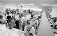 Unemployment; Detroit; 1980; Line At Michigan Employment Security Commission (MESC).