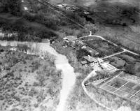 Ford Motor Co. ; Plants; River Rouge; Turning Basin Rouge River. - Airphoto.