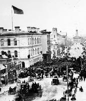 Streets; Campus Martius; Old Scenes. Detroit Opera House; 1890's.