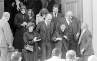 Zerilli, Anthony J. ; Detroit Businessman; Son of Mafia Boss.--Brought back from prison to attend his father, Joseph Zerilli's funeral. Pictured: front row between two women.