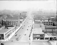 Streets; Woodward; Widened.--Looking North from Vernor highway.--Looking North from Maccabee Bldg.