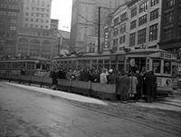 Street Railways; Passengers. Crowds Waiting At Capitol Park Loading Station.