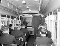 Street Railways; Safety School. Views of instruction car for DSR Bus & Street Car Operators