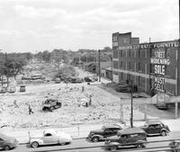 Streets; Davison; Widening; Construction. Looking S. at 3rd Near Wildemere Avenue.