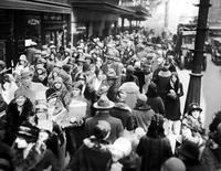 Shopping; Crowds; Christmas Shoppers; Downtown 1928.