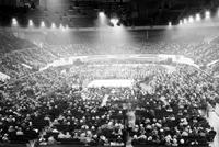 Boxing; Detroit; Briggs Stadium; Crowd.