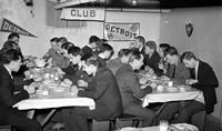 Colleges; University of Detroit; Students; Tower Club. Co-operative eating club.