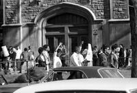 Colleges; Highland Park Junior; Students; Negro Students Strike; Picket College. Police stand as college re-opens.