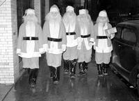Christmas; Detroit; Santa Claus; Training School. -Captain Harry W. Wilson Training Santa Claus Helpers