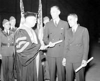 Chrysler, Walter P. Sr. ; Auto Manufacturer. Died Aug. 18, 1940.--Degree at U of M.--Portrait.--Commencement exercises.