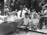 Soap Box Derby; Detroit News Contest; 1941. Billy White, Winner.