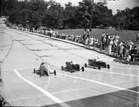 Soap Box Derby; Detroit News Contest; 1940. Tom Fisher, Winner.