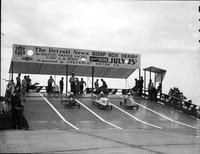 Soap Box Derby; Detroit News Contest; 1936. Edmund Richardson, Winner.