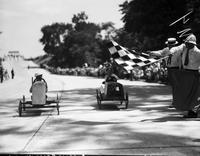 Soap Box Derby; Detroit News Contest; 1935. Leonard Horton, Winner.