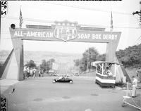 Soap Box Derby; National Contest; Akron; 1949. Donald Klepsch at Akron