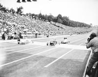 Soap Box Derby; National Contest; Akron; 1947. Kenny Holmboe, Winner.