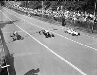 Soap Box Derby; National Contest; 1941; At Akron, Ohio. Claude Smith, Winner.