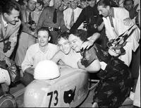 Soap Box Derby; National Contest; 1938; At Akron, Ohio. Robert Berger, winner.