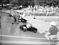 Soap Box Derby; Detroit News Contest; 1950. Action