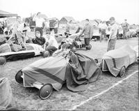 Soap Box Derby; Detroit News Contest; 1950. Inspection