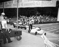 Soap Box Derby; Detroit News Contest; . Action. 1949