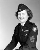 Wars; World; 2: Uniforms; Volunteers; Women. -Marie Carter; Staff Sergeant. -Red Cross Motor Corps