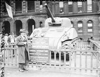 Army; Tanks; M-4; General Sherman. With Ford sign & Aaron H. Priebe