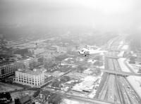 Aero; Aircraft; Helicopters; In Flight Over Detroit.--Used in study of traffic control on Lodge & Ford expressways