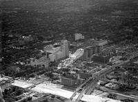 Aerials; Detroit; New Center Area; Detroit Uptown.--Fisher Bldg.--General Motors bldg.--New Center bldg.--Surrounding area.
