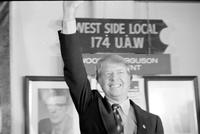 Carter, James Earl; Former Governor of Georgia; Candidate For United States Presidency. -Campaigns at UAW Local 174.