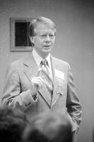 Carter, James Earl; Former Governor of Georgia; Democratic Presidential Candidate . -Addresses Suburban Officials at Hyatt Regency, Dearborn