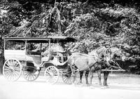 Belle Isle; Bus. Old horse drawn type of vehicle.