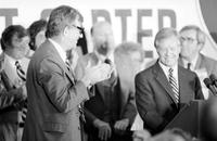 Carter, James Earl; United States President. -In Detroit to Address the American Federation of Teachers Convention