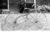 bicycles. old-fashioned. Date is 1890