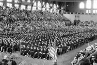 Colleges; University of Michigan; Commencement; 1936