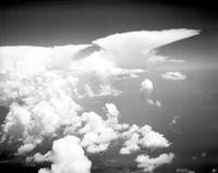 clouds; thunder heads. over N. Y. State. most anvils on record in one picture. Date is 1935