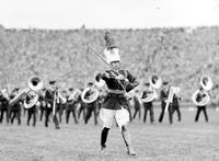 Colleges; University of Michigan; Band; Drum Majors; 1933.