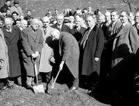 Colleges; Detroit College of Law; On East Elizabeth. -Breaking Ground for New Building. -Dr. A. G. Studer, Dr. Paul Hickey, William Krichbaum & Howard A. Coffin